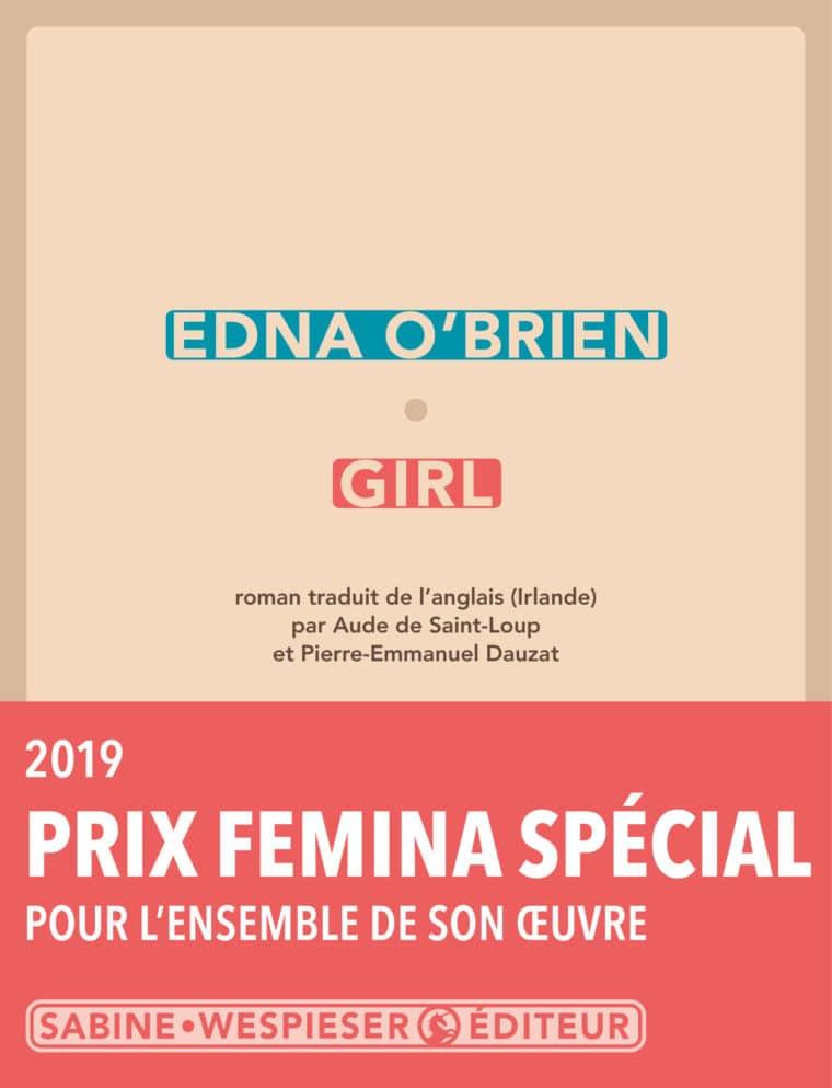 Girl - Edna O'Brien - 2019 - Prix Special Femina 2019