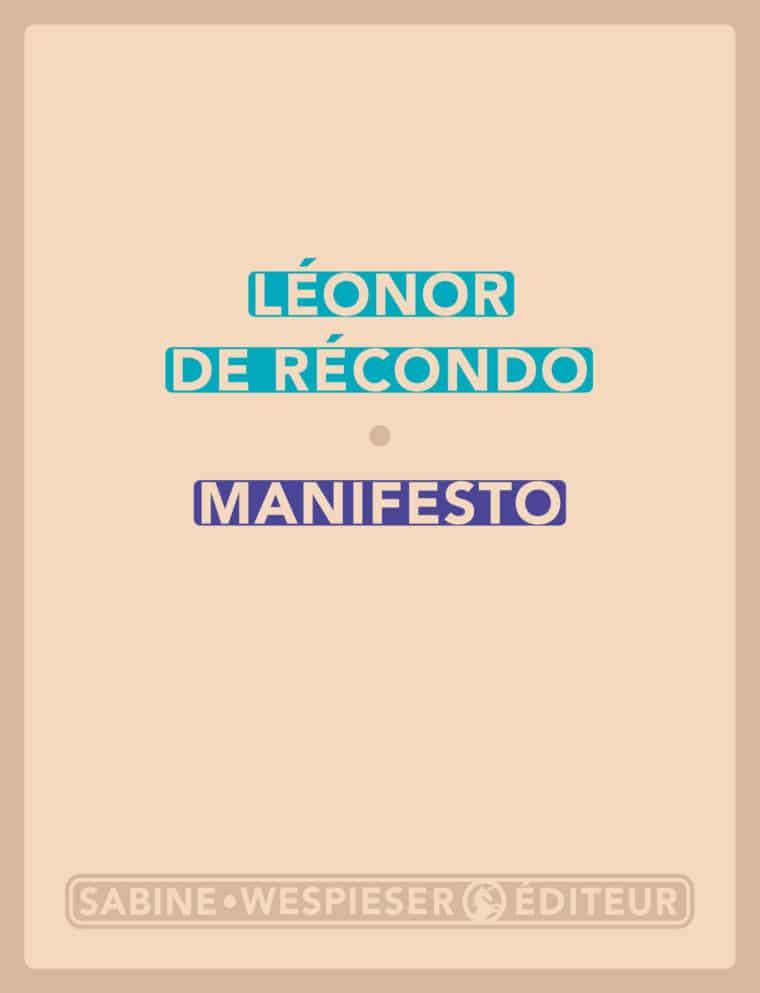 Manifesto - Léonor de Récondo - 2019